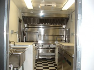 Food Truck Kitchen with Grill